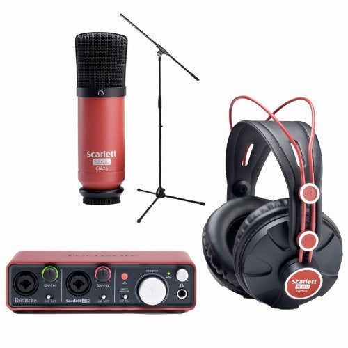 Focusrite Scarlett Studio w/ Mic Stand Producer Recording Package