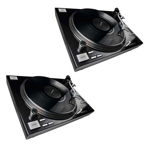 Reloop RP-7000 MK2 Upper Torque Turntable System, Black (2-Pieces)