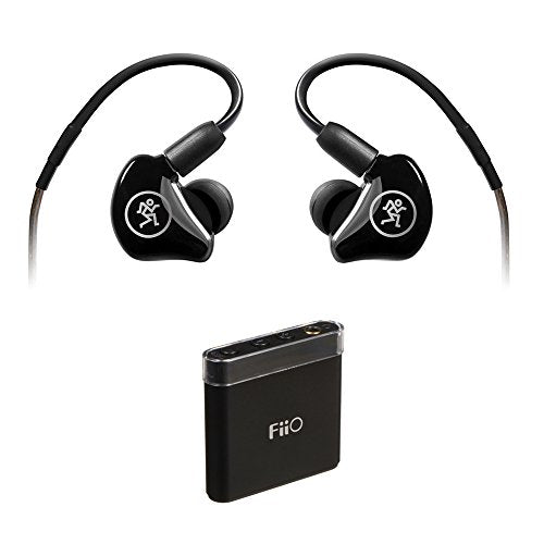 Mackie MP-220 Dual Dynamic Driver In-Ear Headphones with FiiO A1 Portable Headphone Amp