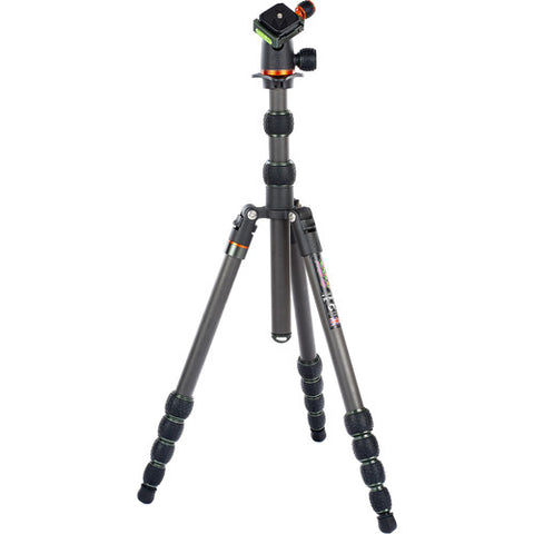 Carbon fiber, 23mm leg tube, 5-section tripod with BLACK AirHed Neo ballhead. (Black/Grey color)