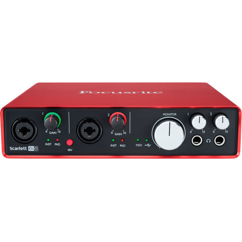Focusrite Scarlett 6i6 USB Audio Interface (2nd Generation)