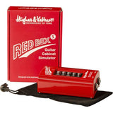 "Hughes & Kettner Red Box 5 Guitar Cabinet Simulator with 6"" Patch Cable R Angle (2-Pieces) Bundle"