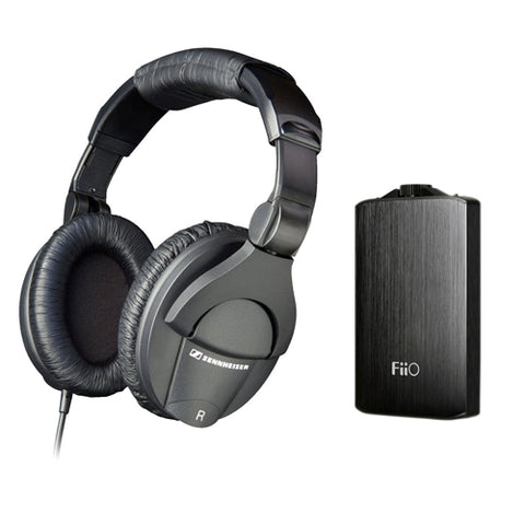 Sennheiser HD 280 Pro Circumaural Closed-Back Monitor Headphones with FiiO A3 Portable Headphone Amplifier