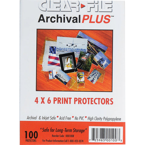 "ClearFile Print Protector (4 x 6"", 100-Pack)"