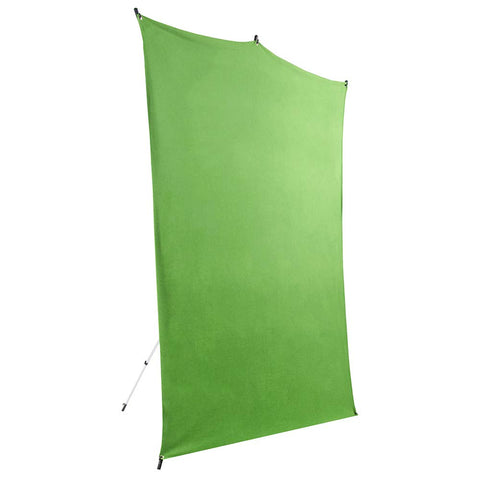 Savage 5x7' Chroma Green Background Backdrop Travel Kit with Aluminum Stand and Carry Bag