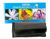 Hoya 49mm Close-Up Filter Set, +1, +2, +4 Multi Coated Diopters