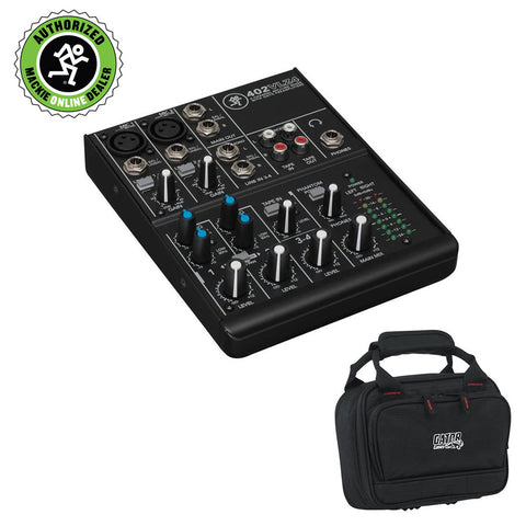 Mackie 402VLZ4 4-Channel Ultra-Compact Mixer with G-MIXERBAG-0608 Padded Nylon Mixer/Equipment Bag Kit