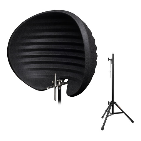 Aston Microphones Halo Reflection Filter (Black) with Reflection Filter Tripod Mic Stand Bundle