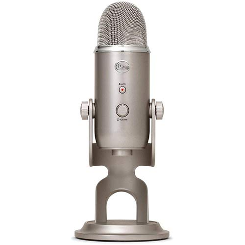 Blue Yeti USB Microphone (Platinum) with AKG K 240 Studio Professional Stereo Headphones & Pop Filter Bundle