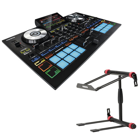 "Reloop Touch 7"" Touchscreen DJ Controller for VirtualDJ with Magma Bags Vektor Stand Bundle"