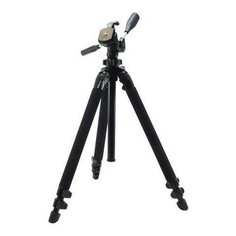 Slik Pro 400DX Tripod Legs - Black - with 3-Way Pan/Tilt Quick Release Head