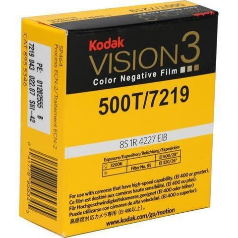 Kodak VISION3 500T Color Negative Film #7219 (Super 8, 50' Roll)