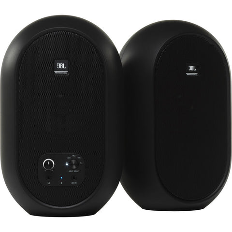 JBL 1 Series 104-BT Compact Powered Desktop Reference Monitors with Bluetooth (Black Matte) - Sold by Pair