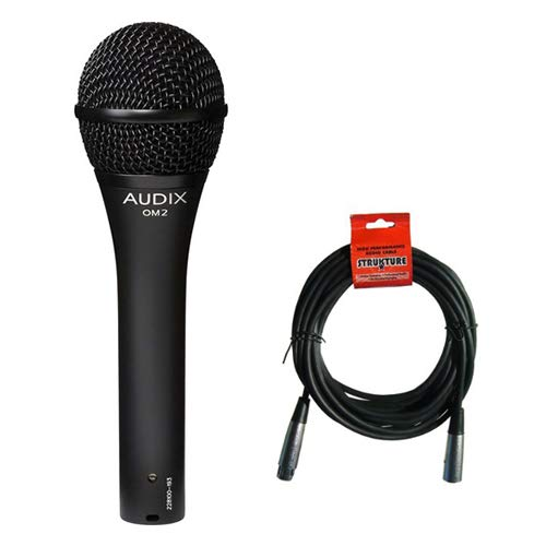 Audix OM2 Dynamic Hypercardioid Handheld Microphone with XLR- XLR Cable