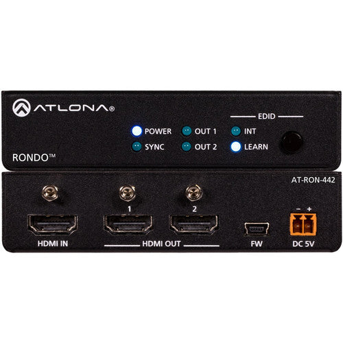 Atlona Rondo 442 4K/HDR 1x2 HDMI Distribution Amplifier