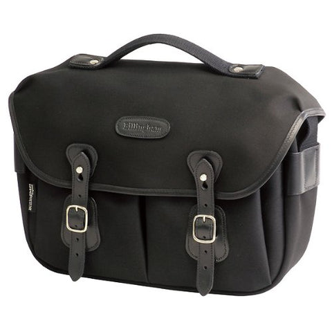 Billingham Hadley Pro Shoulder Bag (Black with Black Leather Trim)