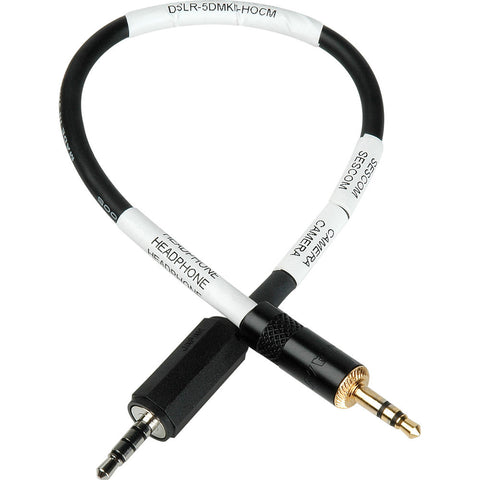 Sescom Canon 5D MkII A/V Out Headphone Cable (3.5mm TRRS/M to TRS/M)