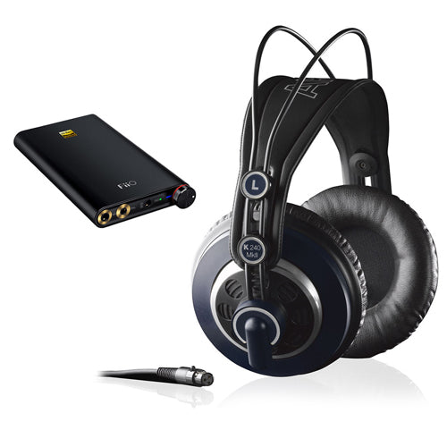 AKG K 240 MK II Professional Semi-Open Stereo Headphones with FiiO Q1 Mark II Portable Headphone Amplifier & DAC