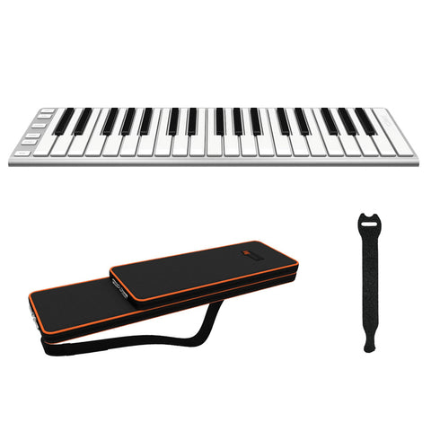 CME Xkey 37 USB MIDI Controller with CME Solar Xkey37 Carrying Case & 10-Pack Straps Bundle
