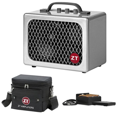 ZT Amplifiers Lunchbox Junior Combo Amplifier for Electric Guitars with ZT Amplifiers Battery Pack and ZT Amplifiers Carry Bag