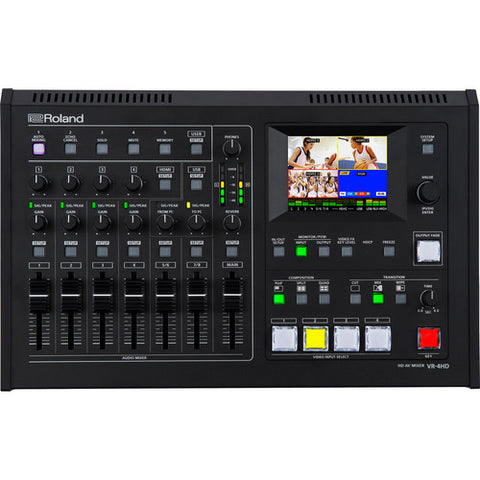 Roland VR-4HD All-in-one HD AV Mixer 4 Channel with Built-in USB 3.0 for Web Streaming and Recording
