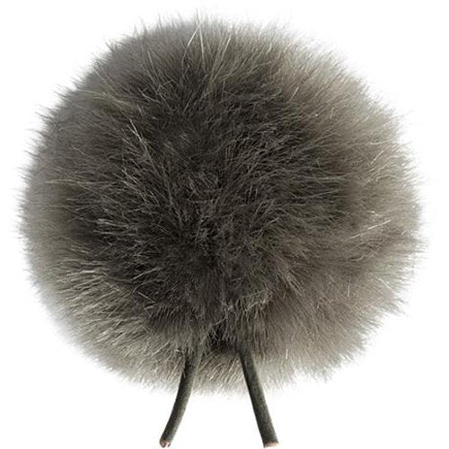 Bubblebee Industries Windbubble Miniature Imitation-Fur Windscreen (Lav Size 2, 35mm, Grey)