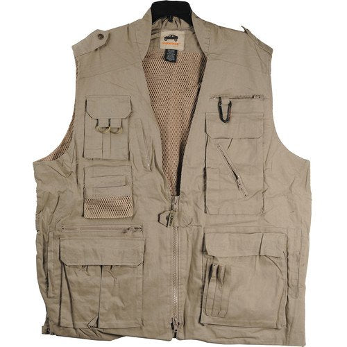 Campco Safari Photo Vest - Khaki - Medium