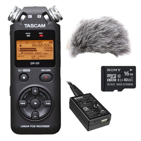 TASCAM DR-05 Portable Digital Recorder Kit