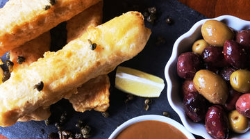 Mediterranean Inspired Fried Fish w/ Balsamic Dijon Dipping Sauce