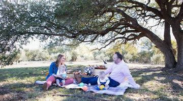 family picnic in the orchard | | Texas Hill Country Olive Co.
