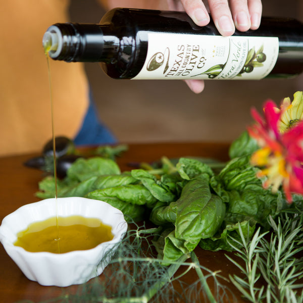Summer favorites olive oil and balsamic vinegar