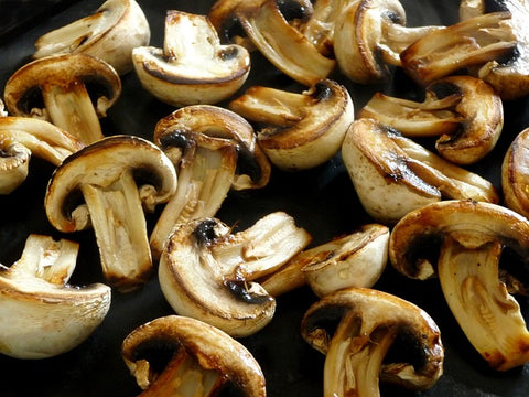 mushrooms cooked in Texas olive oil