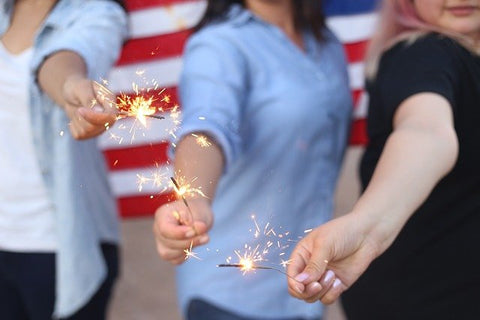 Texas 4th of Jul sparklers