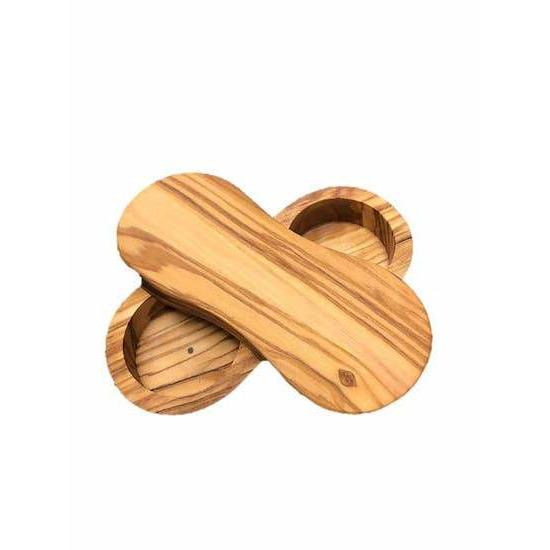 Olive Wood Salt & Pepper Keeper - Kitchen Accessories - Natural OliveWood