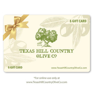 Online Gift Card $10.00 - Gift Sets - Texas Hill Country Olive Co.