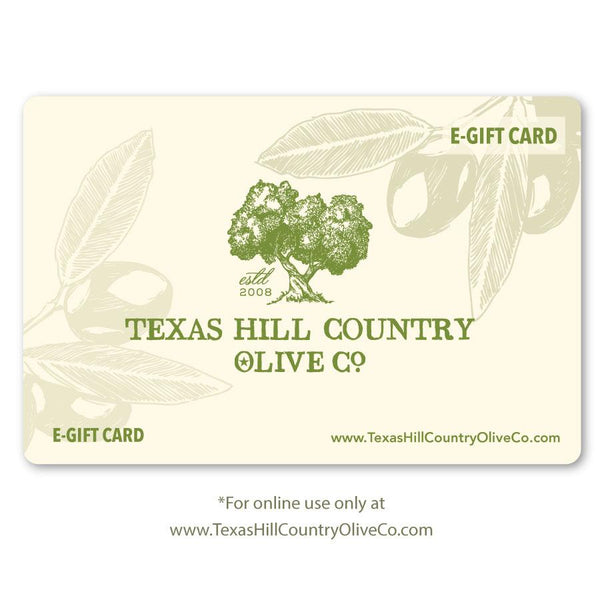Online Gift Card - Gift Sets - Texas Hill Country Olive Co.