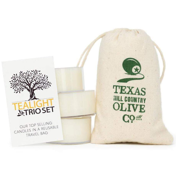 Tea Light Trio - Spa - Texas Hill Country Olive Co.