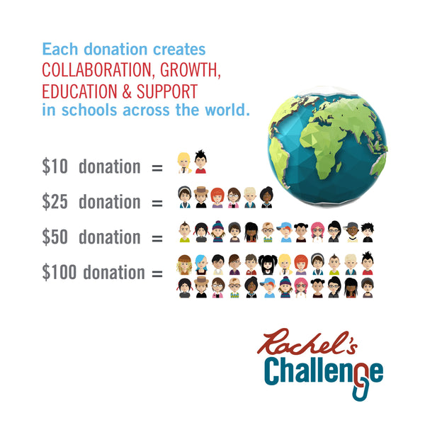 Donate to Rachel's Challenge - Continue to Bottom of Page