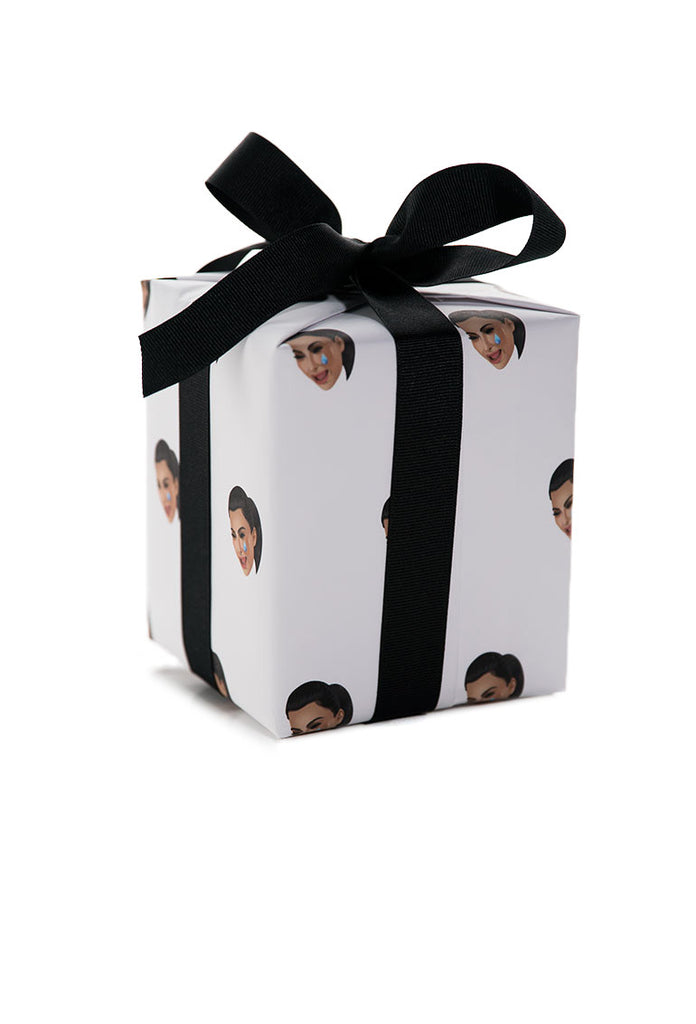KIMOJI CRY FACE WRAPPING PAPER