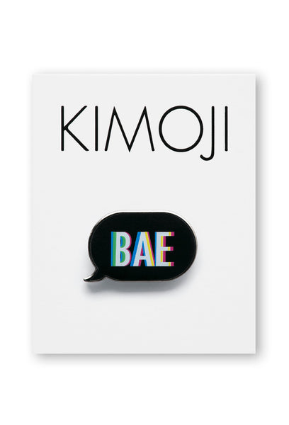 KIMOJI BAE WORD BUBBLE PIN