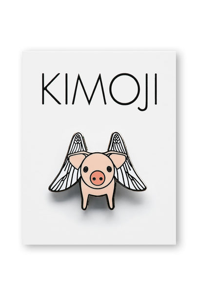 KIMOJI FLYING PIG PIN
