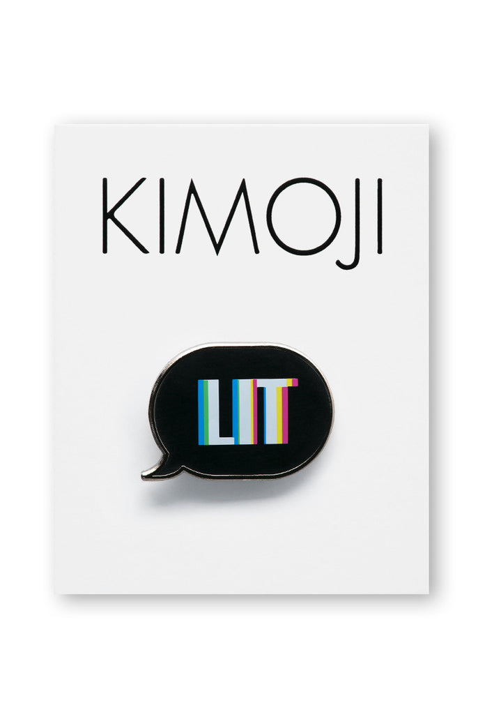 KIMOJI LIT WORD BUBBLE PIN