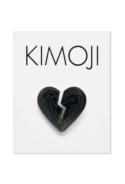 KIMOJI BLACK HEART PIN