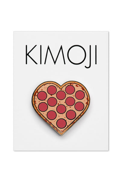 KIMOJI PIZZA HEART PIN