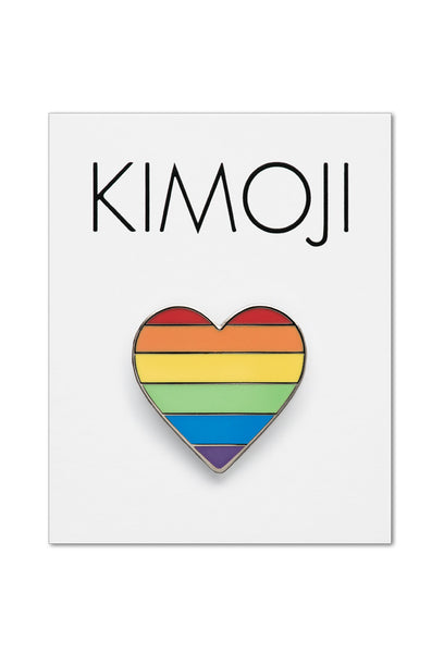 KIMOJI RAINBOW HEART PIN
