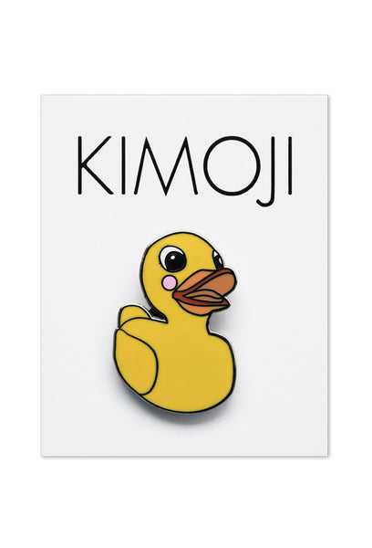 KIMOJI RUBBER DUCK PIN