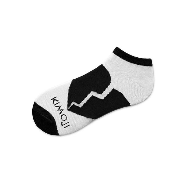 KIMOJI BLACK HEART SOCK