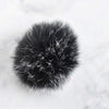 Destination Yarn Accessory Black & White Faux Fur Pom - Neutral Colors
