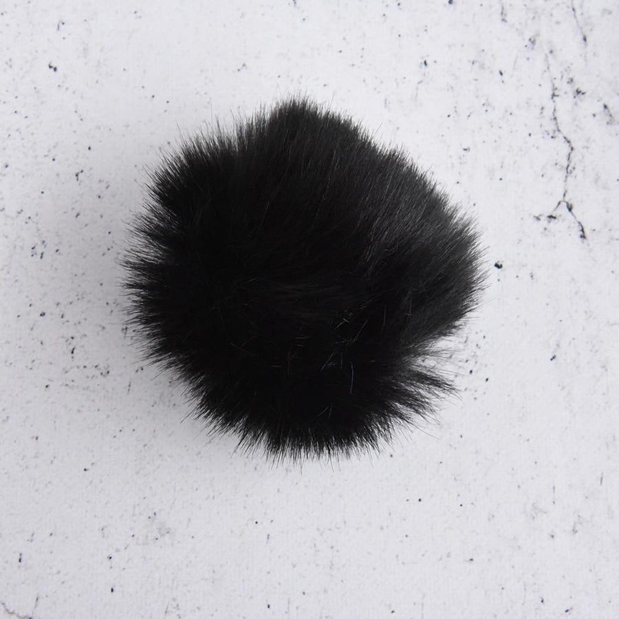 Faux Fur Pom - Neutral Colors