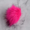 Destination Yarn Accessory Pink Faux Fur Pom - Bright Colors
